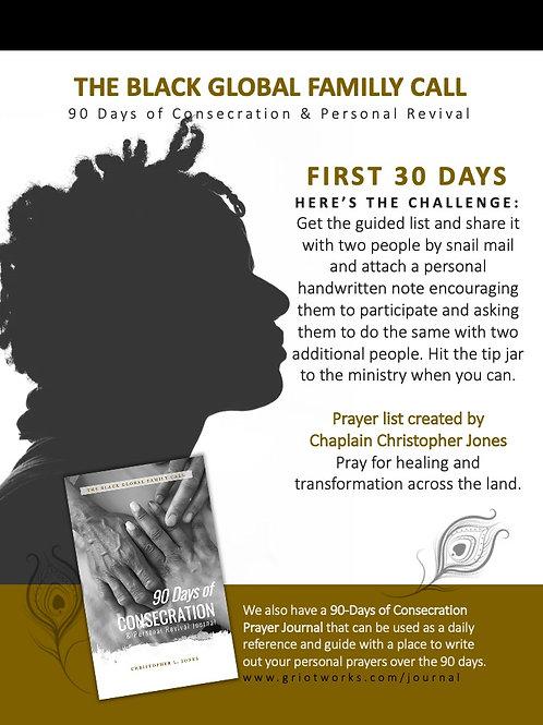 1st 30 Days of Prayer