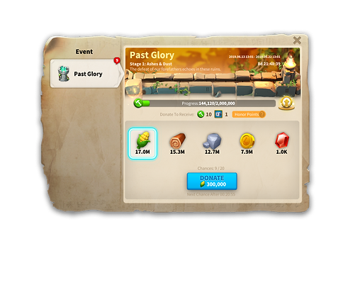 Rise of Kingdoms Past Glory Event