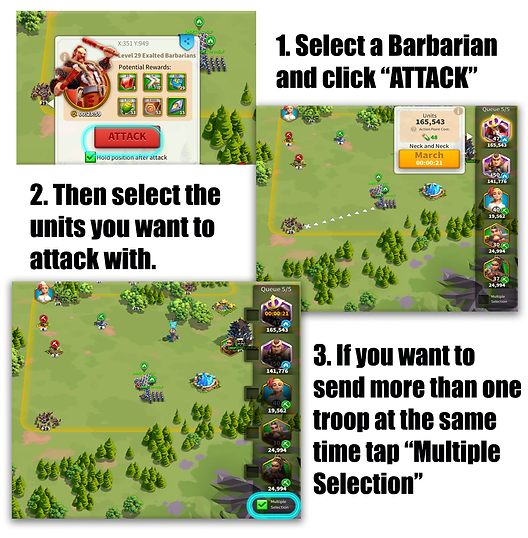 Attacking in Rise of Kingdoms