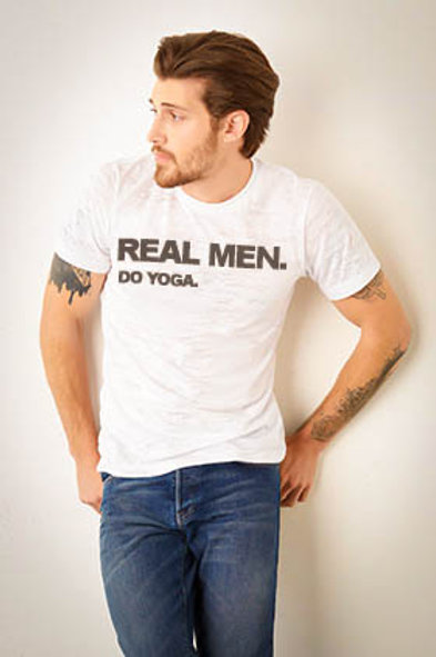 Real Men Do Yoga Tee