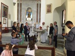 Крещение девочки в Гибралтарее