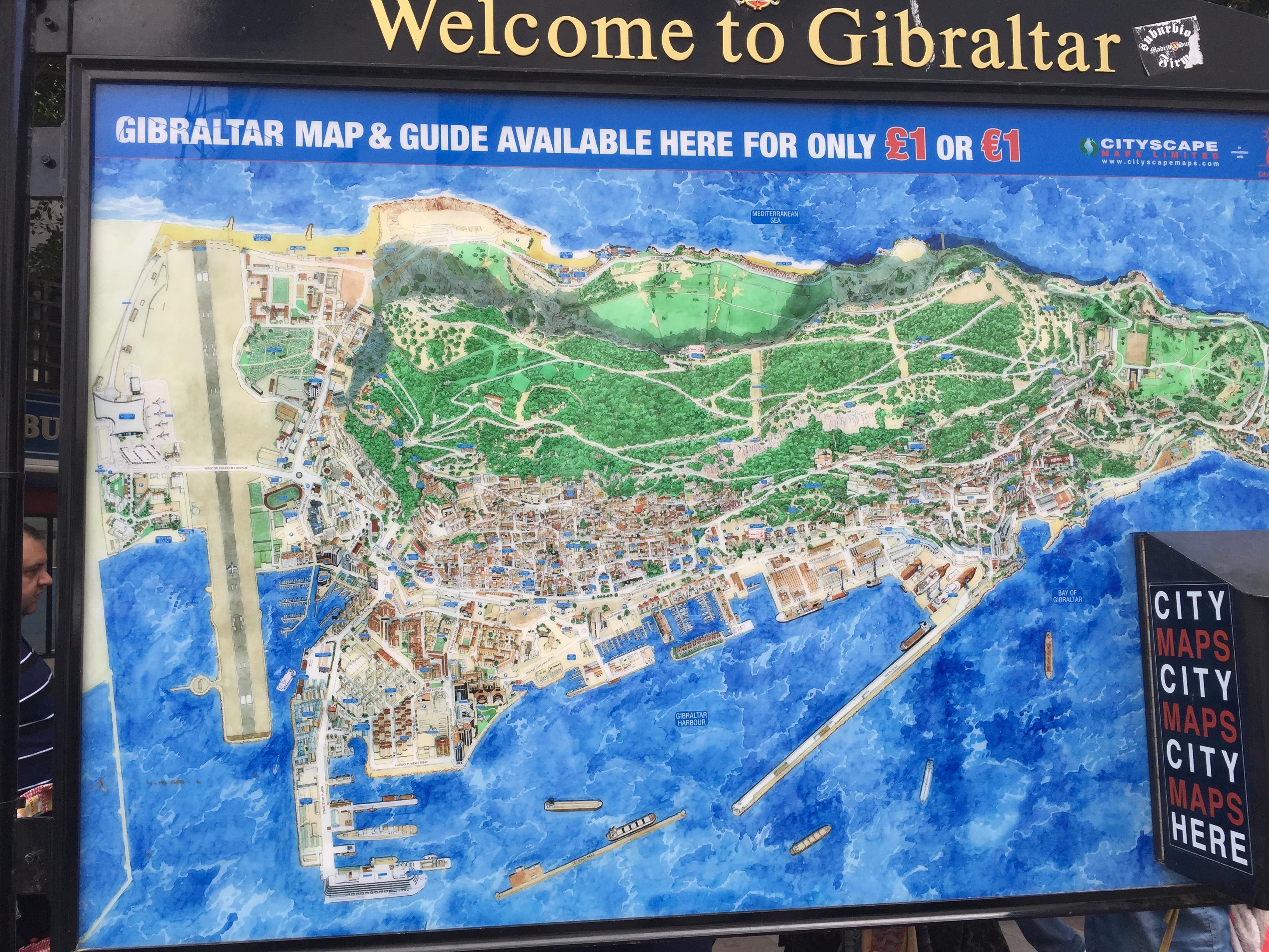 Карта Гибралтара
