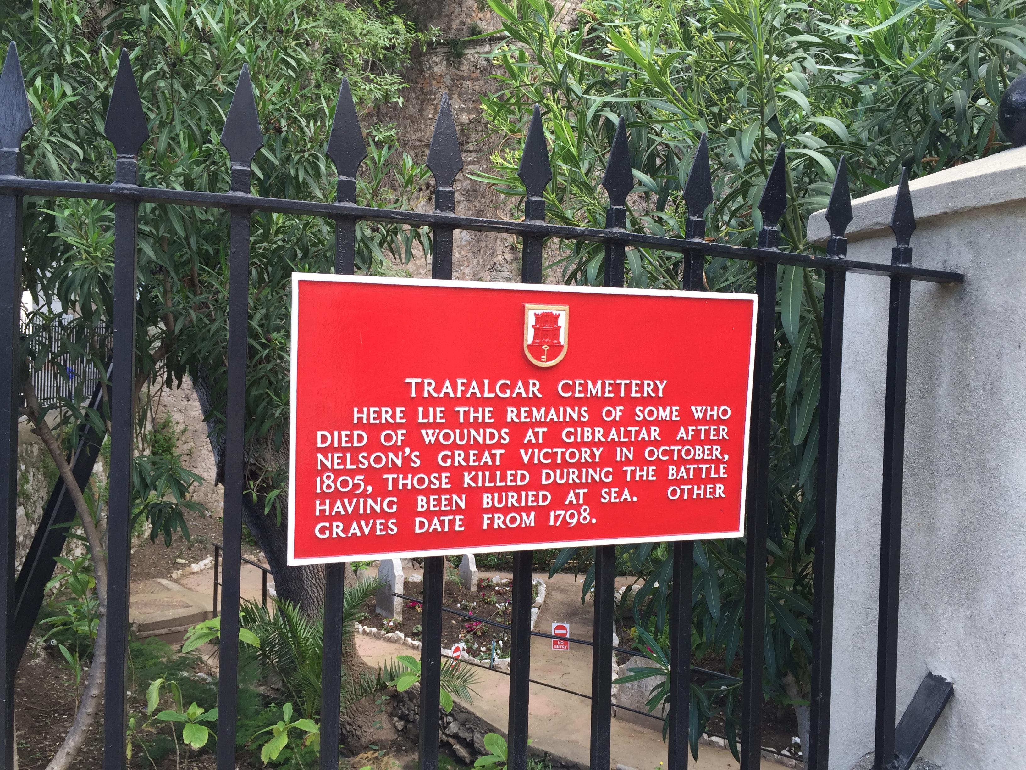 Трафальгарское кладбище в Гибралтаре
