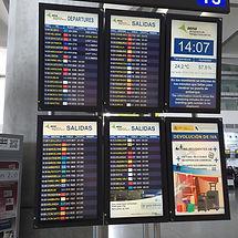 Табло аэропорта Малаги. Расписание аэропорта Малаги.