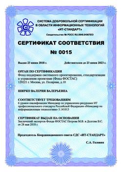 Сертификат Ширко