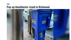 Pop-up blockbuster stand in Richmond