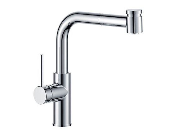 Eiger Volt Gooseneck Sink Mixer w/- Pullout spray