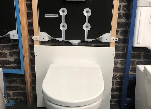 Sole Wall Face Toilet, Inwall Cistern and Button Package