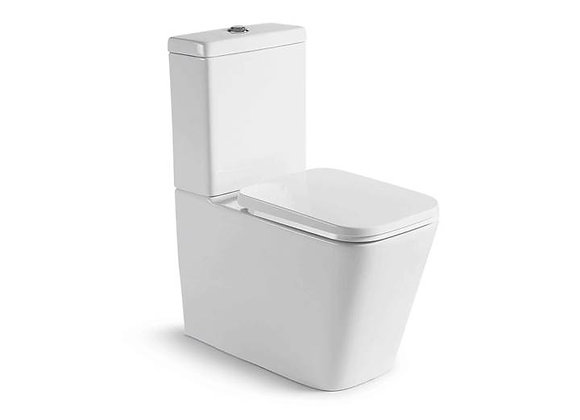 """Eiger Line Back to Wall Toilet""""S"""" & """"P"""" Trap Bottom Inlet"""
