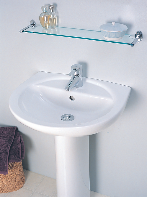 Argent Linea Alto 550 Hand Wash Basin Wall Hung 1TH