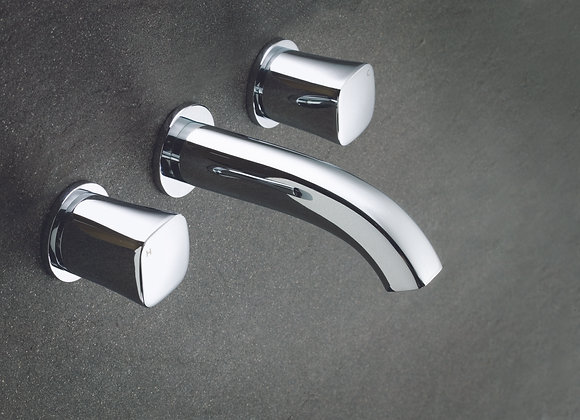 Argent Qube T Wall Mounted Bath Set 3TH