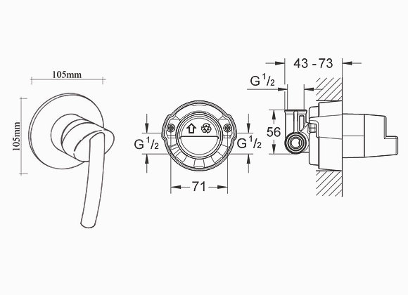 Grohe Tenso Small Round Shower Mixer