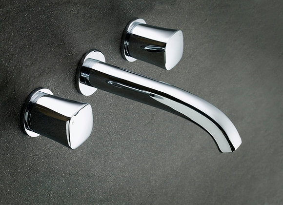 Argent Qube T Wall Mounted Basin Set 3TH