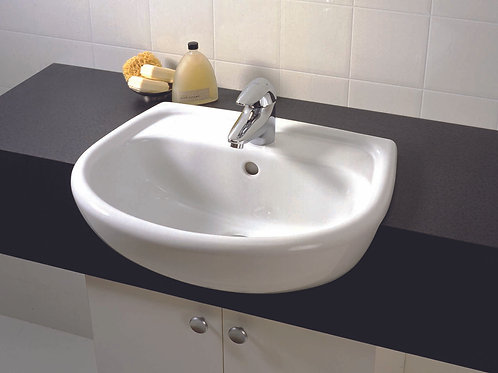 Argent Luna 560 Semi Recess Basin 1TH