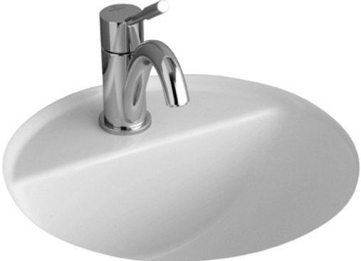 Villeroy & Boch Loop 375 Round UC Basin with Tapshelf, 1TH