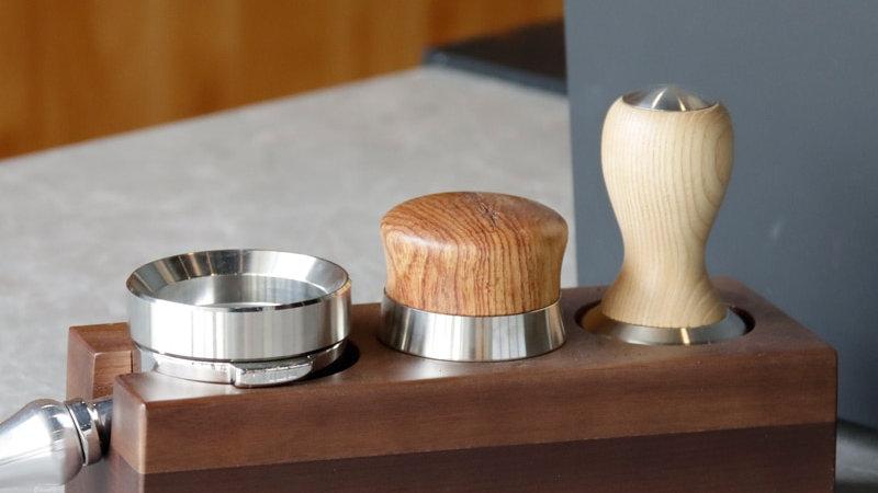Walnut Wood Coffee Filter Tamper Holder