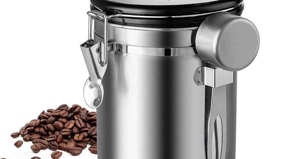 Stainless Steel Airtight Coffee Container 1.5L