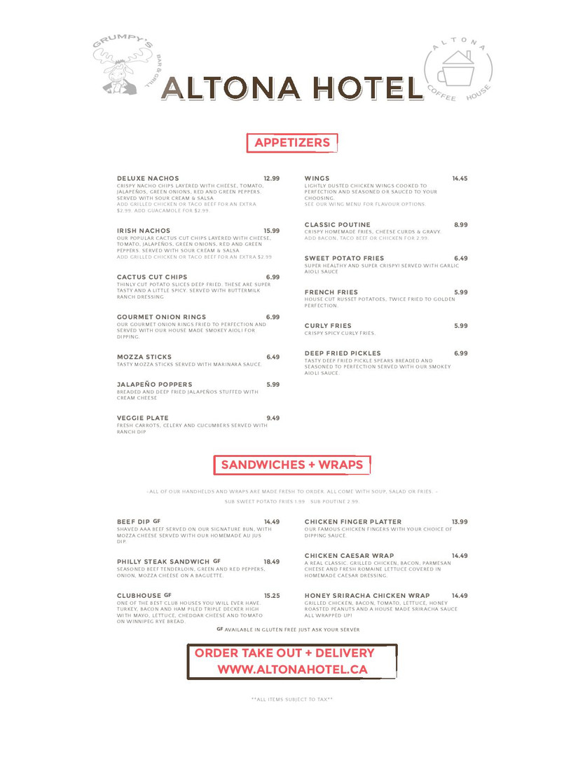 Altona Hotel Lunch & Dinner