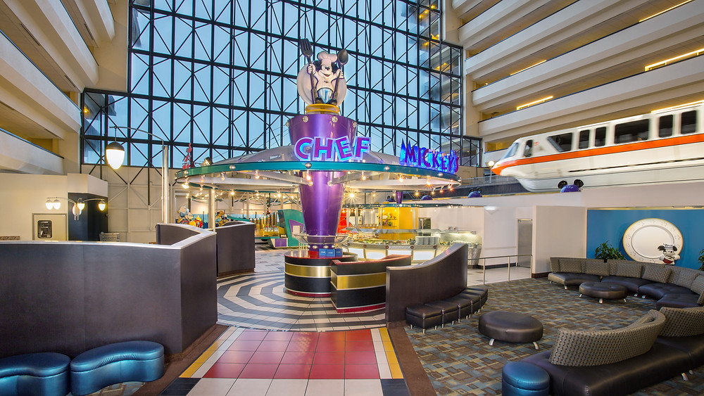 chef mickey's, contemporary resort hotel