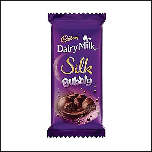 Cadbury Dairy Milk Silk Bubbly Chocolate Bar, 50 g