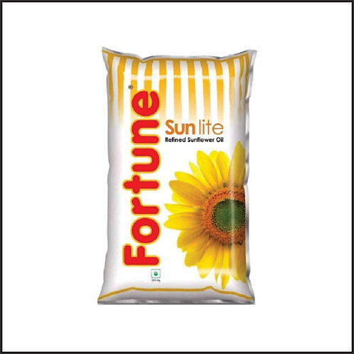 Fortune Sunlite Refined Sunflower Oil, 1L Pouch