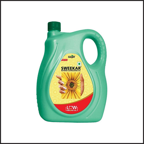 Sweekar Refined Sunflower Oil Jar, Lite, 5L