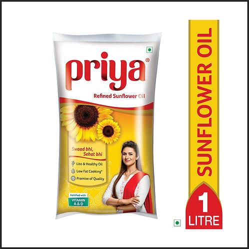 Fortune Sunlite Refined Sunflower Oil Pouch  (1 L)