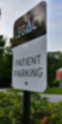 Legacy offers patient parking close to the door!