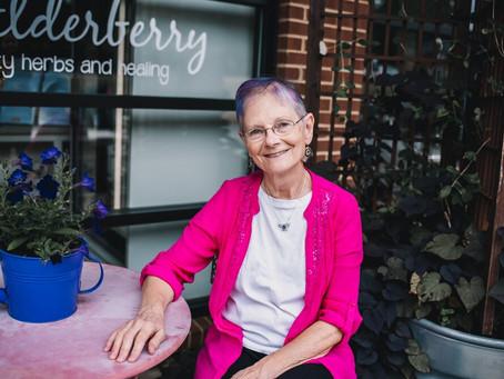 Jan Wolfe, Family Nurse Practitioner, Herbalist, and owner of The Elderberry