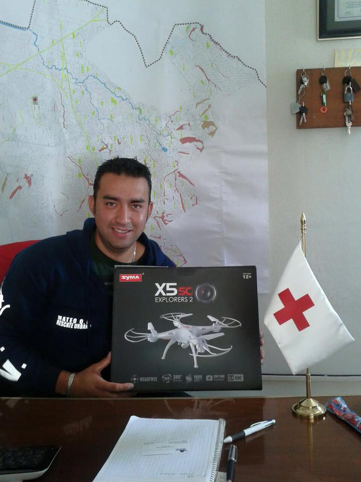Donación de drone en cruz roja