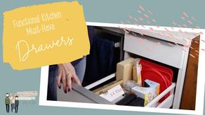 Drawers! {The Best Tiny Kitchen Storage Hack}