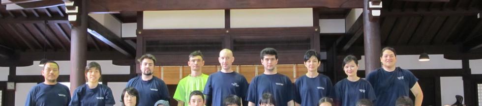 Nenshinryu Budo kids and adults in the Kyoto Budo Center