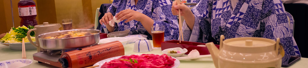 A typical dinner at our Aikido training camp in Kyoto