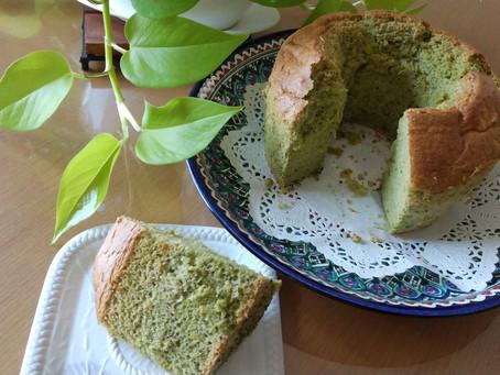 シフォンケーキを焼きながら... While baking chiffon cake...