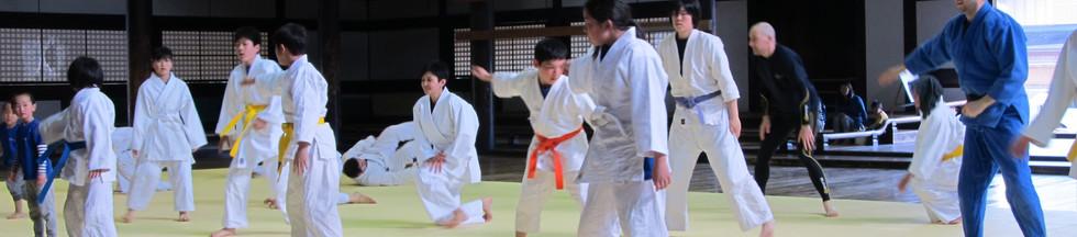 Ukemi Practice at Butokuden in Kyoto