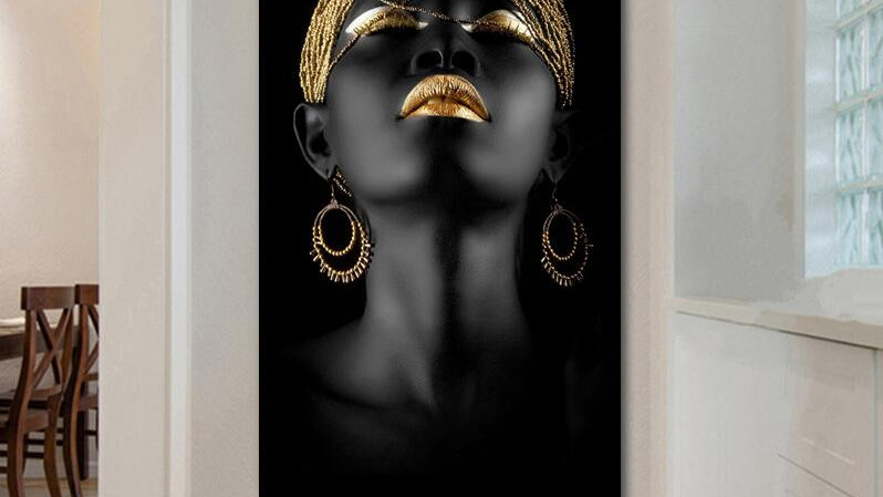 Beauty Woman Canvas Painting Wall Art Home Decor No Frame