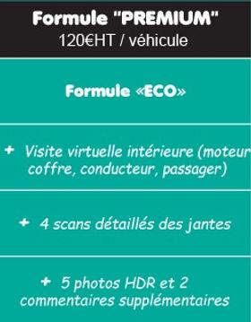 Formule Premium SellMy3DCar visite virtuelle