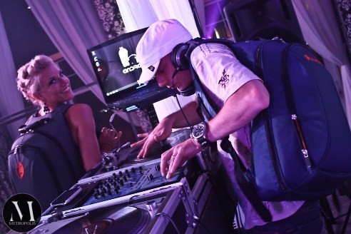 DJ Rob Sample and friend