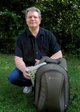 Christian Martirano with his Big Namba Studio Backpack