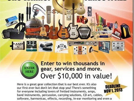 Namba Gear Included in $10,000 Music Industry Sweepstakes