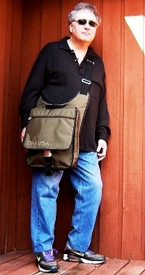 Jason Miles and his Kava Laptop Studio Bag