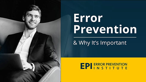 Error Prevention Training Videos