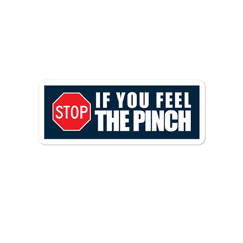 DECAL - STOP FOR THE PINCH