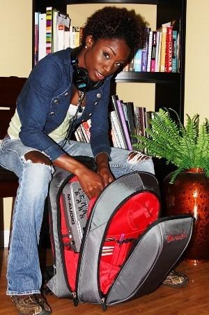Angelica Ross & her Big Namba Studio Backpack