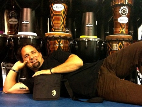 John Scalici and Samba Stash Bag