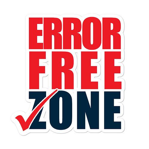 DECAL - ERROR FREE ZONE