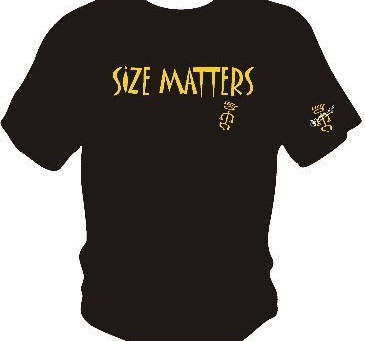 """Namba Gear """"SIZE MATTERS"""" T-shirts in Time for the Holidays"""