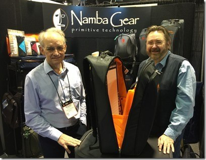Tom Oberheim and Roger Linn visit the Namba Gear booth NAMM 2015