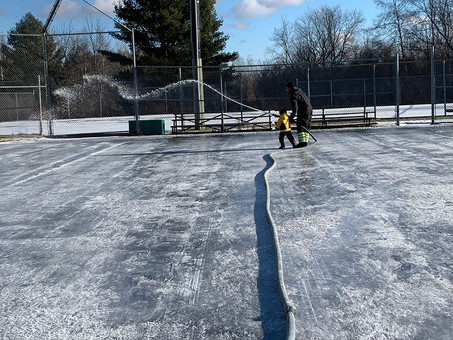 New puddle rink at the Carlsbad Springs Community Centre - opens on Wednesday Dec 30