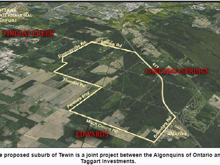 Massive Ottawa suburb planned by Algonquins hinges on urban boundary expansion in Carlsbad Springs.